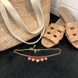 Kate Spade gold and pink necklace